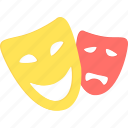 art, artist, comedy, creative, design, drama, mask icon