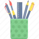 box, draw, drawing, edit, pen, pen stand, pencil icon