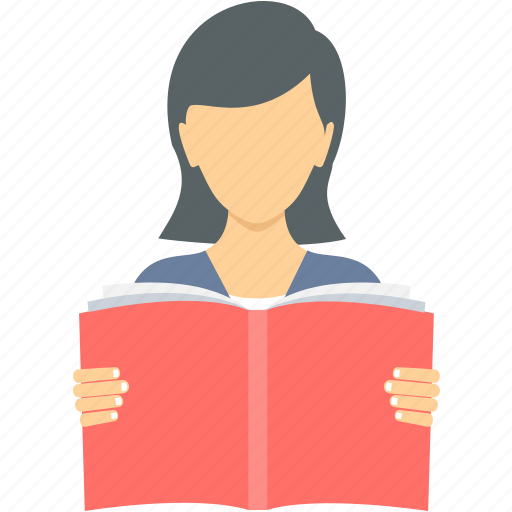 girl, homework, learn, learning, reading, student, study icon