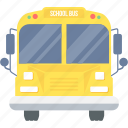 bus, conveyance, school, student, transport, van, vehicle icon
