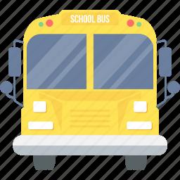bus, conveyance, school, student, transport, van, vehicle icon