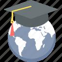 education, global, international, internet, learning, university, world icon
