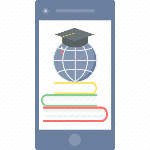 education, elearning, learning, mobile, phone, smartphone icon