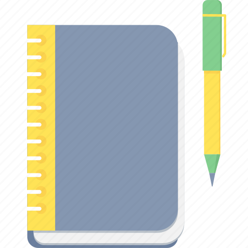 book, note, notebook, register, study icon