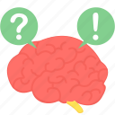 brain, faq, help, idea, mind, solution icon