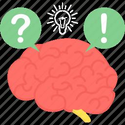 brain, faq, help, idea, mind, solution icon