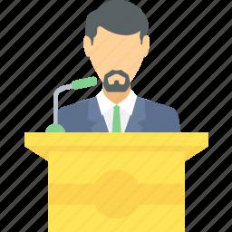 communication, conversation, lecture, message, speech icon