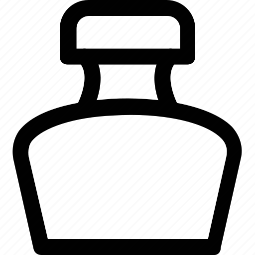 ink, ink bottle, ink jar, inkpot, stationery icon