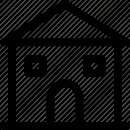 building, college, real estate, school, university building icon