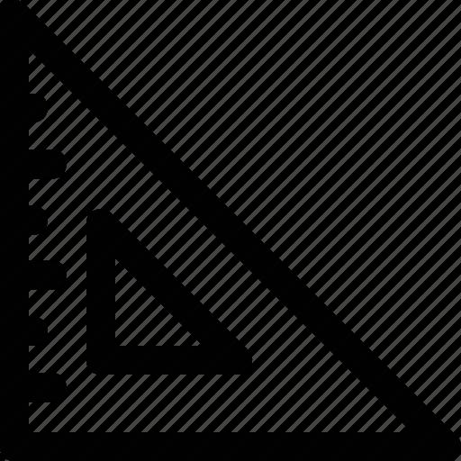 degree square, drafting, geometry tool, measurement, set square icon