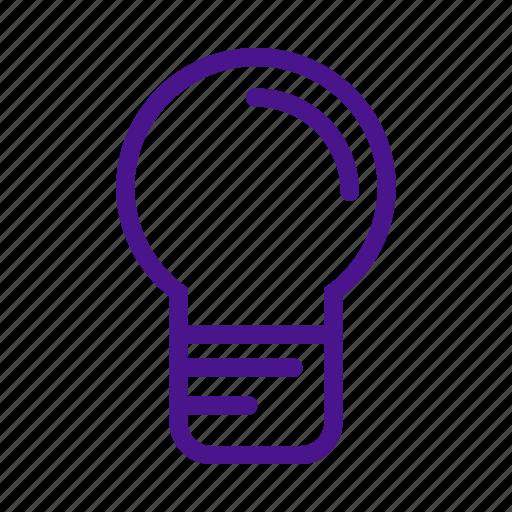 bulb, education, idea, lamp, school, science icon
