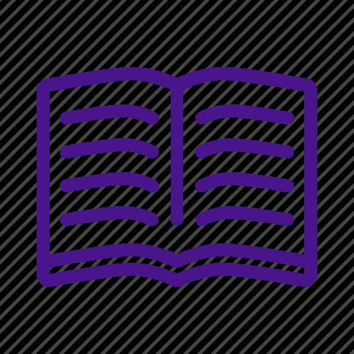book, education, note, open book, read, school, write icon