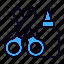 craft, glue, scissors icon