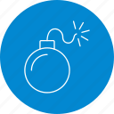 bomb, explosion, grenade, weapon icon