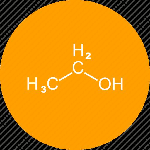 chemistry, ethanol, formula icon