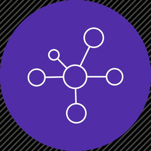 bonding, electron, molecule icon