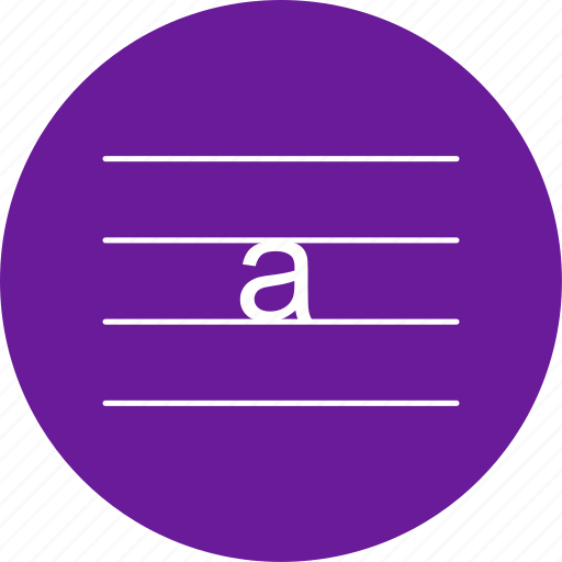 letter, lowercase, small icon