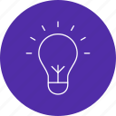 bulb, creativity, idea icon