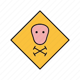 board, sign, toxic icon
