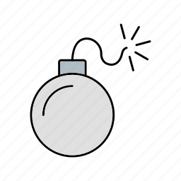 bomb, explosion, weapon icon