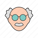 male, scientist, teacher icon