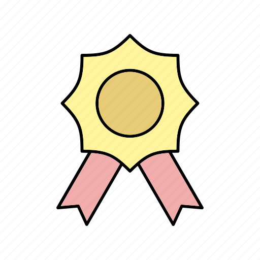 badge, prize, ribbon icon