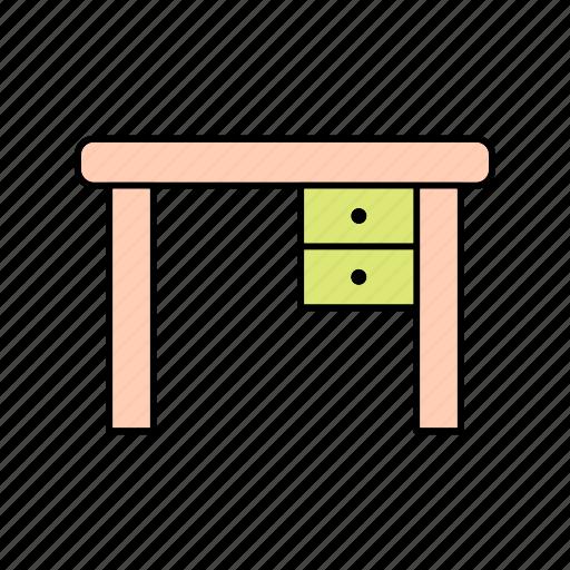 desk, study, table icon