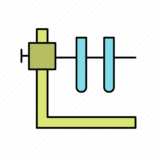 experiment, stand, tubes icon