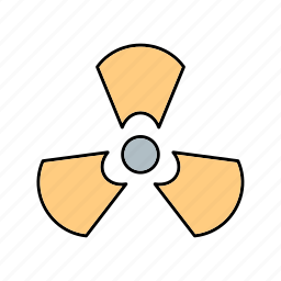 nuclear, radiation, sign icon