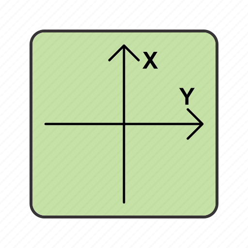 axis, x axis, y axis icon
