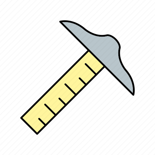 drafting, ruler, square t icon