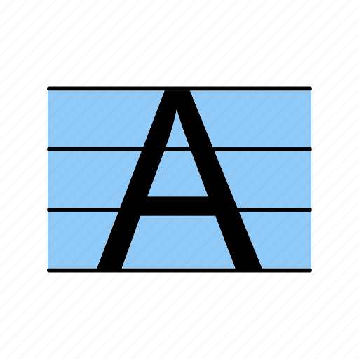 letter, upper case, uppercase icon