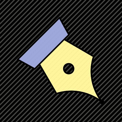 nib, pen, writing icon