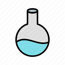 education, equipment, experiment, flask, lab, research, science icon