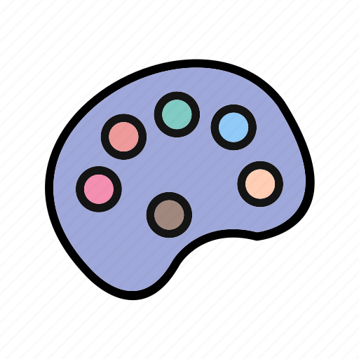 brush, color, drawing, painting, pallete icon