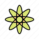 atom, education, energy, physics, structure icon