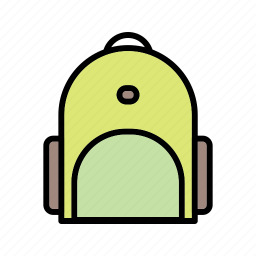 bagpack, carry, education, hand, student icon