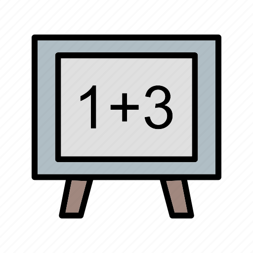 blackboard, calculating, mathematical, mathematics, whiteboard icon