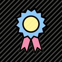 achievement, award, certificate, degree, graduate, ribbon icon
