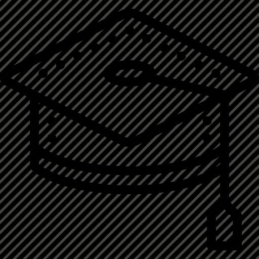 cap, education, graduation, knowledge, learning, school, study icon