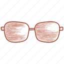 eyeglasses, glasses, shades, spectacles, sunglasses icon