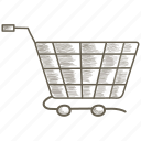 basket, ecommerce, shopping, trolley icon