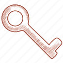 key, lock, safety, security, unlock icon