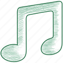 music, note, song, sound icon