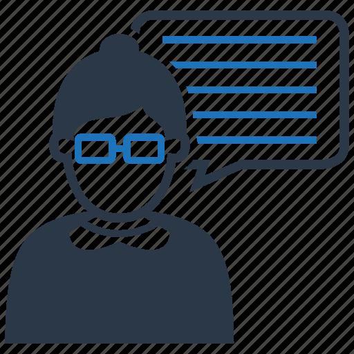 Female, teacher, mc, reporter icon - Download on Iconfinder