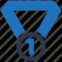 medal, award, number one, reward
