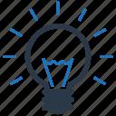 electricity, creative, innovation, light bulb