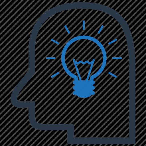creativity, intelligence, lightbulb icon