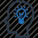 brainstorm, bright, genius, idea icon