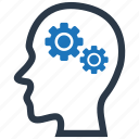 gear, head, mind, strategy icon
